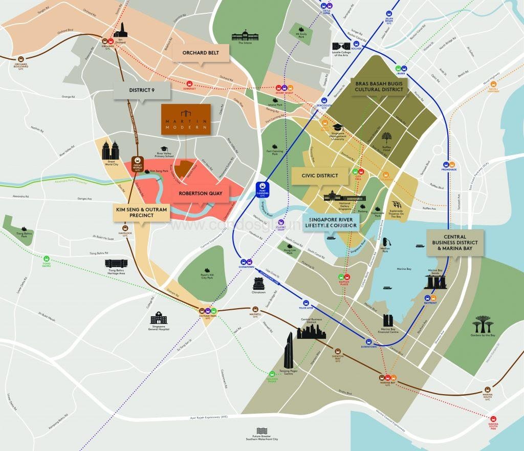 Martin Modern Location Map