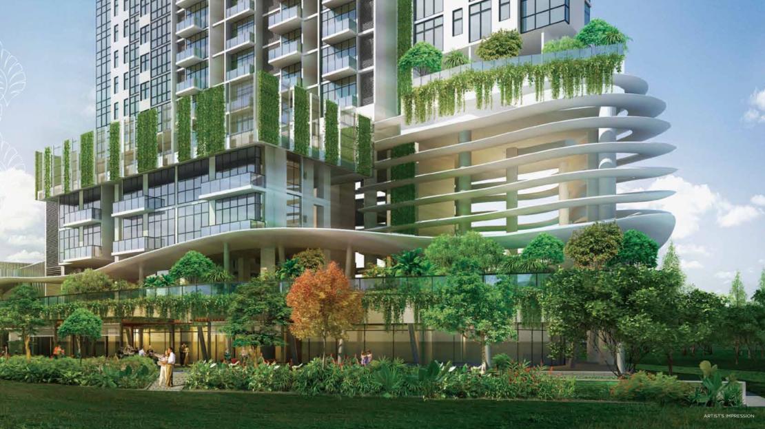 Kallang Riverside Shops garden view