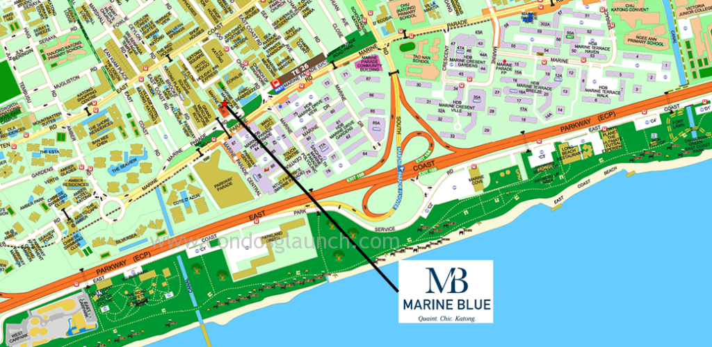 Marine Blue location
