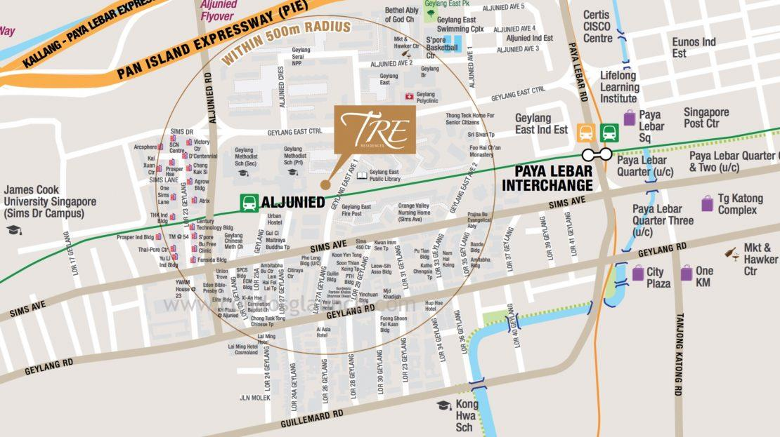 TRE Residences Location Map