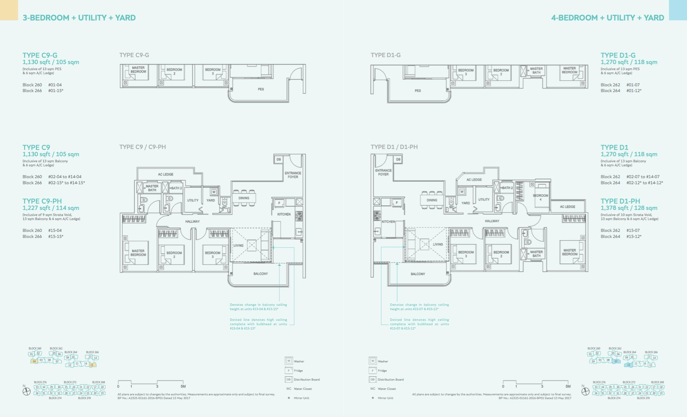 3 Bedroom + Utility / 4 Bedroom