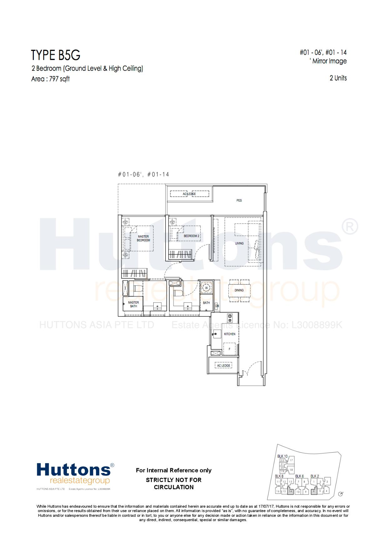 2 Bedroom Show flat Floor Plan