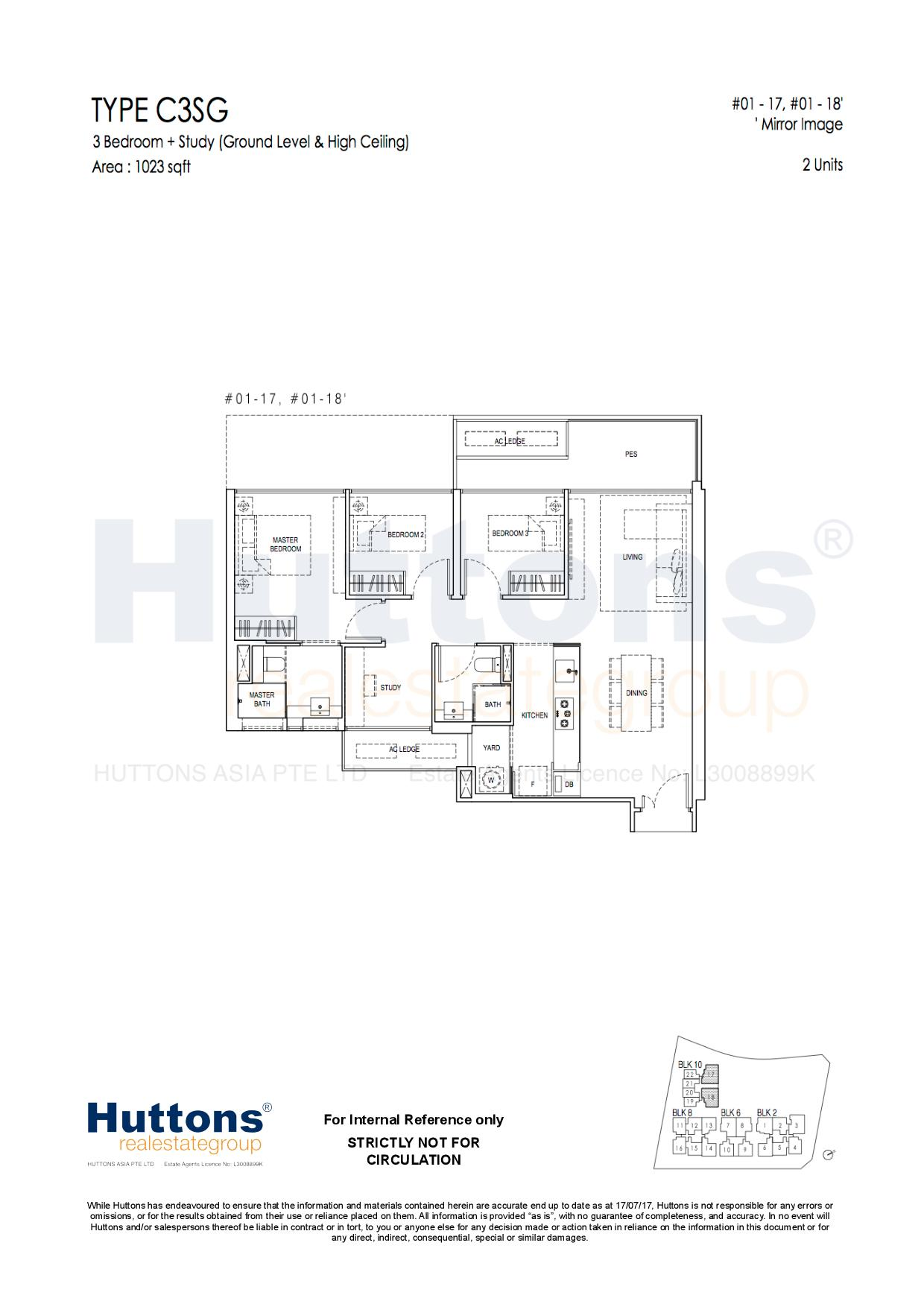 3 Bedroom Show flat Floor Plan