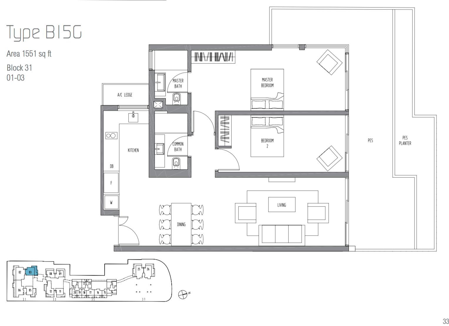 2 Bedroom Ground Unit
