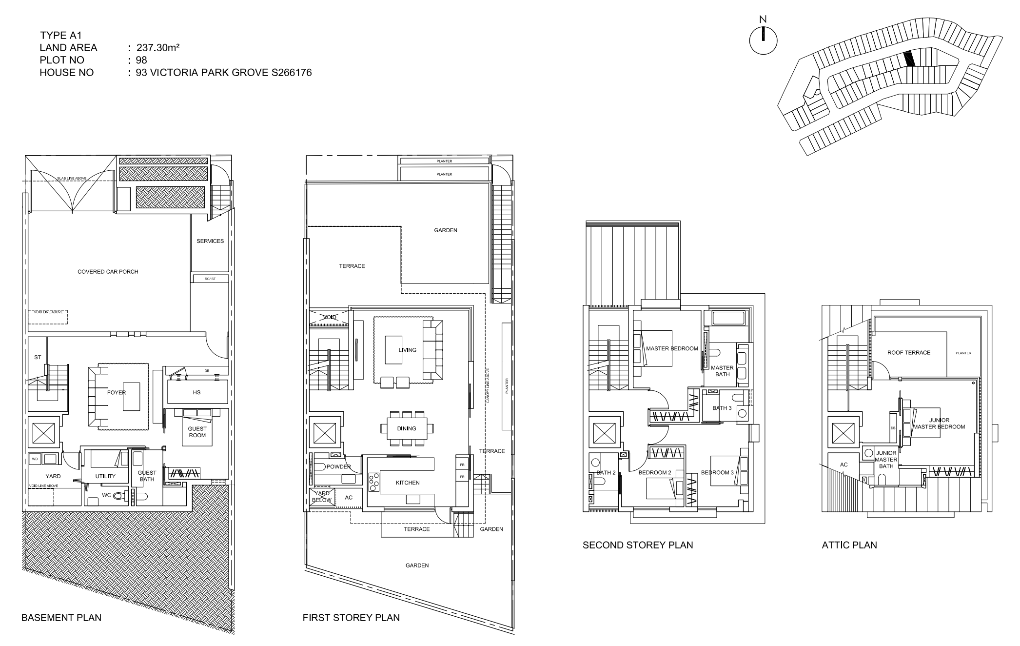 Victoria Park Villas Floor Plan Type A1