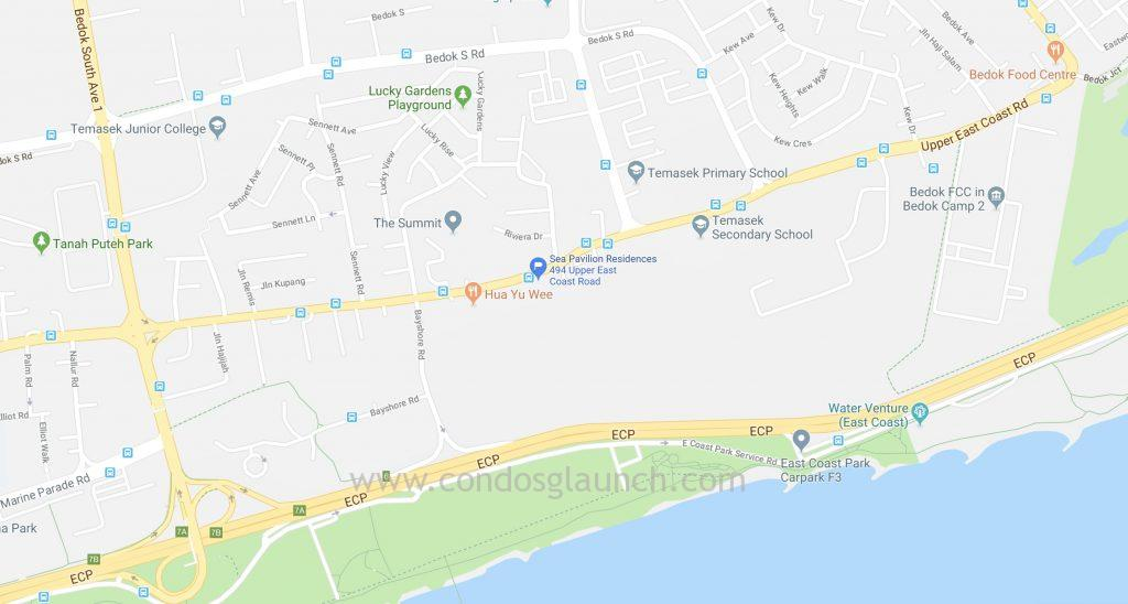 Sea Pavilion Residences Location Map