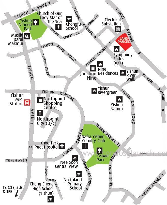 Yishun Ave 9 Condo location +6561008160