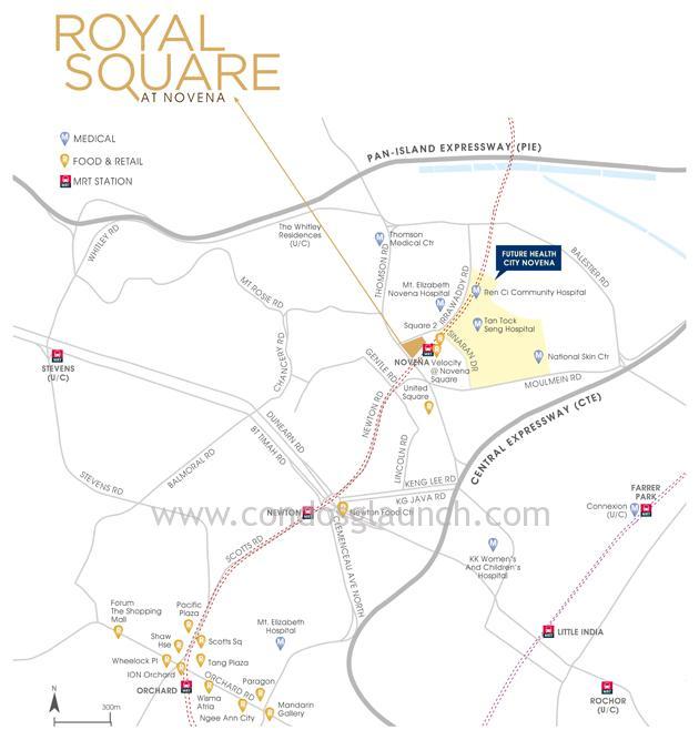 Royal Square @ Novena location map