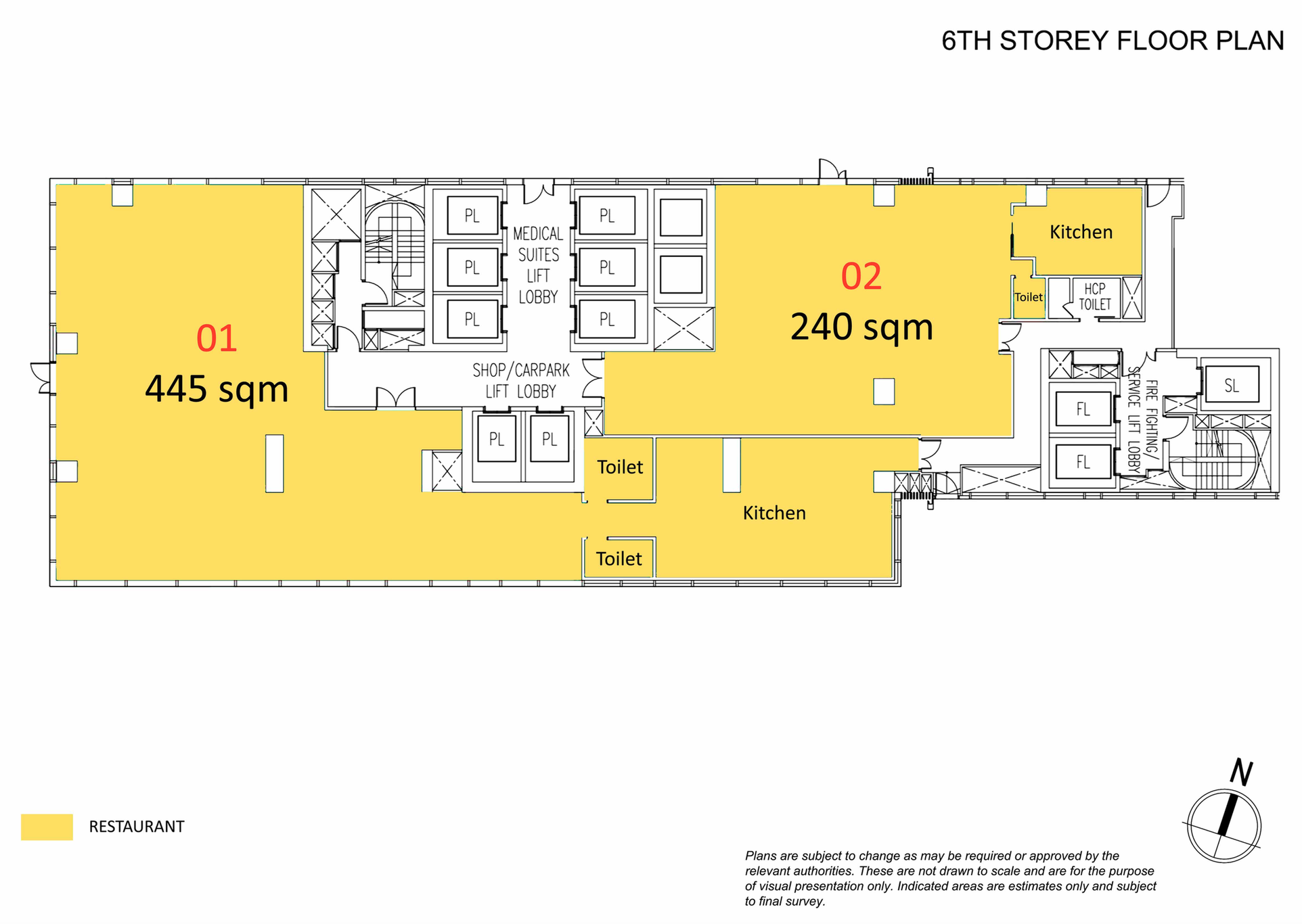 6th Storey Floor Plan