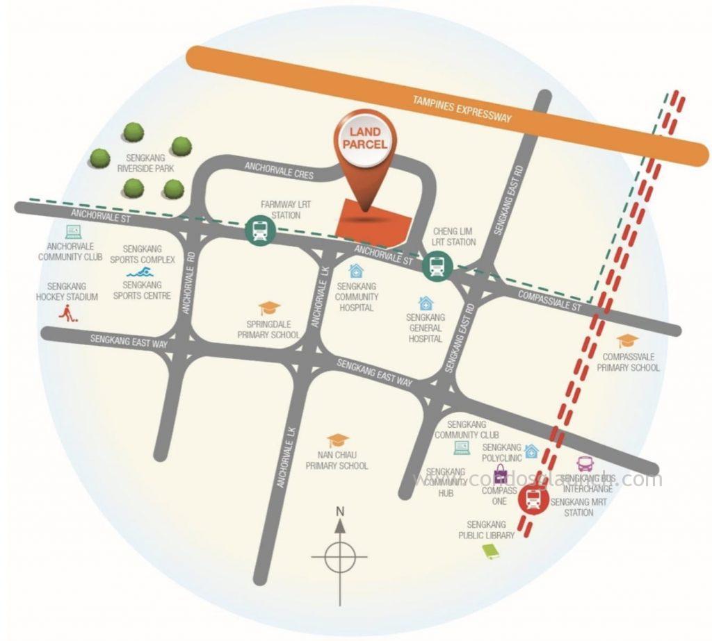 Anchorvale Crescent EC location URA
