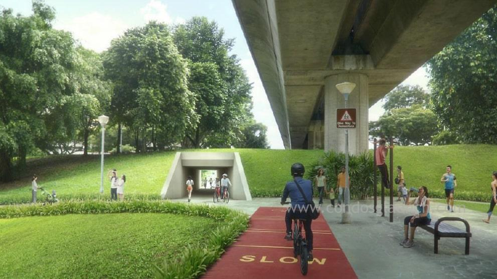 Cycling Paths from Tampines to Simei