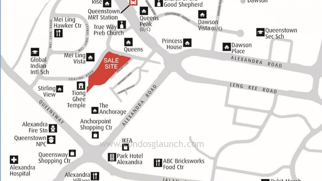 Stirling 3 residences location map