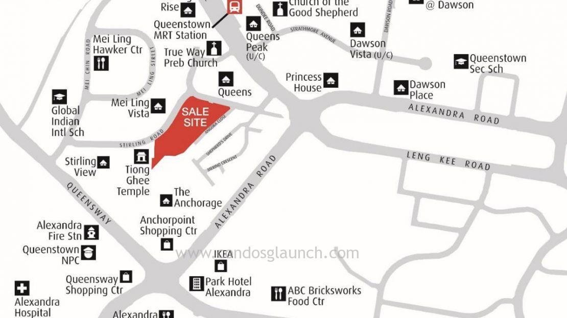 stirling road residences location map