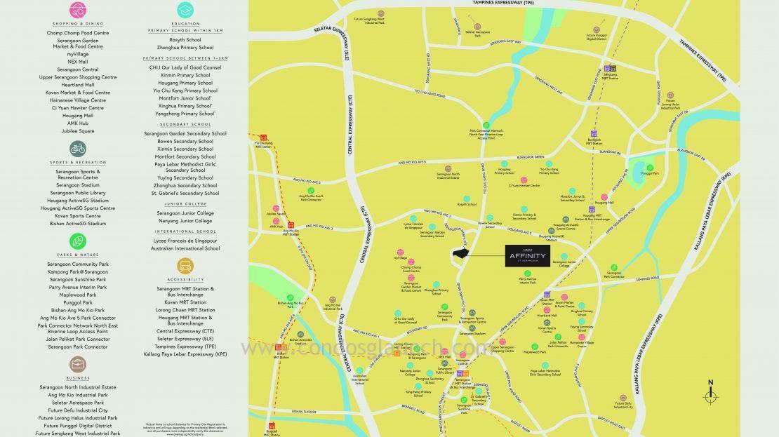 Affinity @ Serangoon Location Map