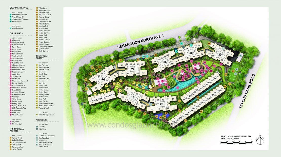 Affinity at Serangoon site map