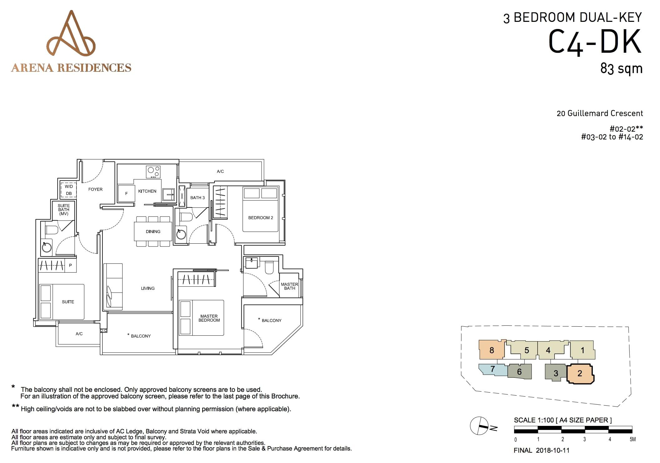 Arena Residences Floorplan