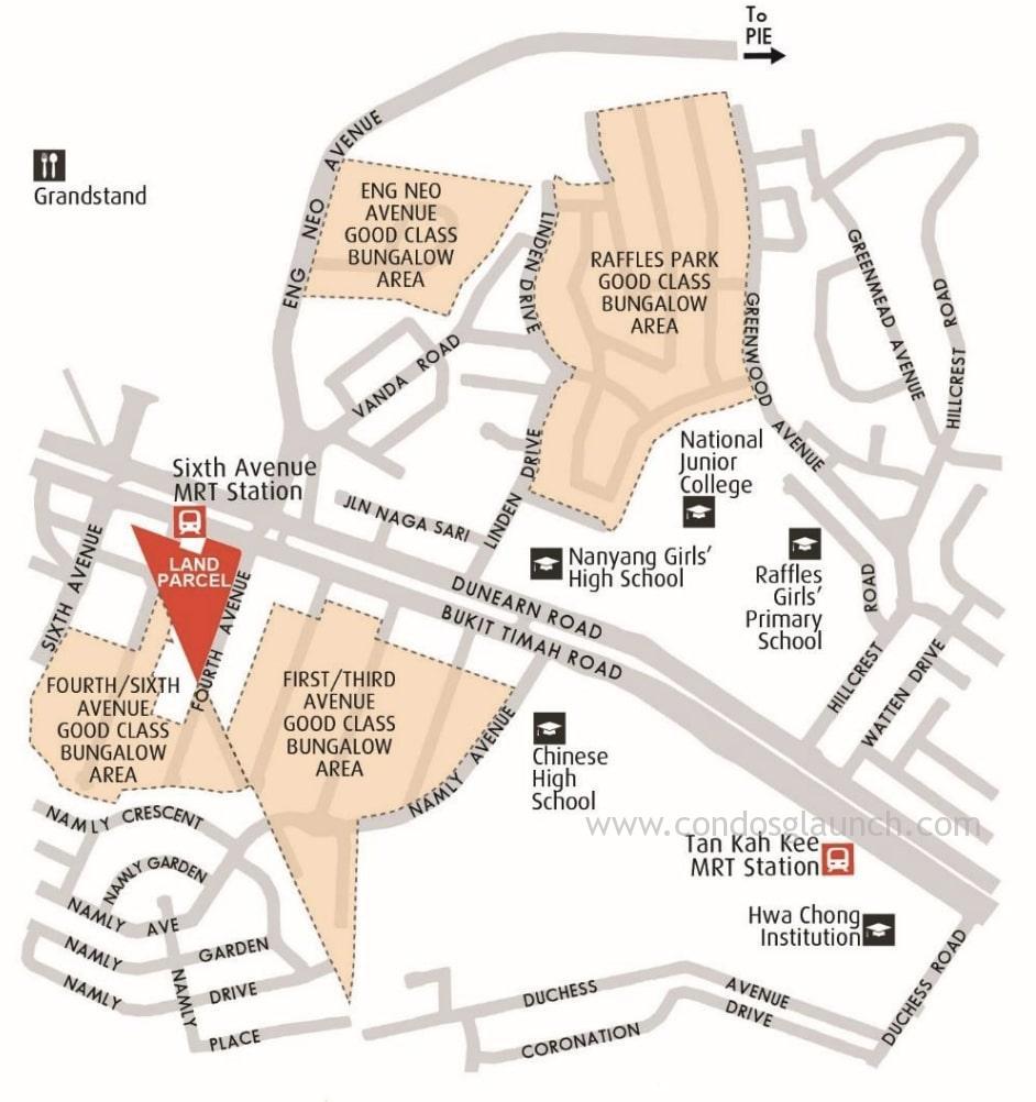 Fourth Avenue Residences location +6561008160