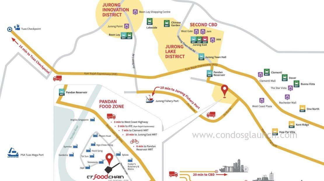 CT Foodchain location map