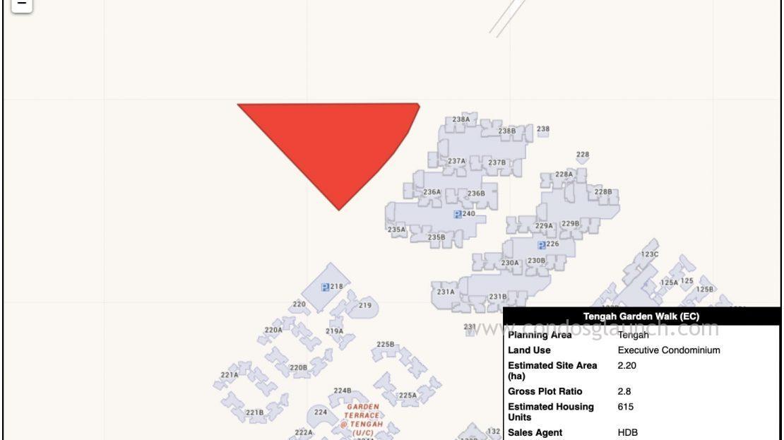 Tengah Garden Walk EC location map